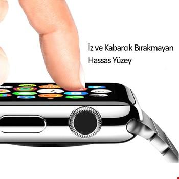 Apple Watch 4 5 44 mm 3D Tam Kaplayan Cam Ekran Koruyucu Filmi
