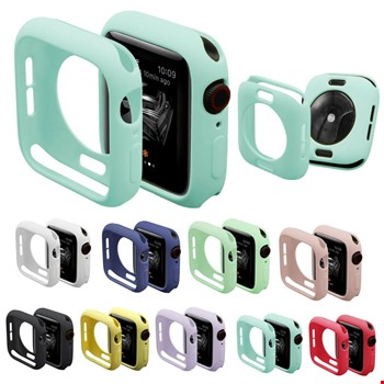 Apple Watch 2 3 4 5 42 44 mm Renkli Silikon Kılıf Kapak Koruyucu