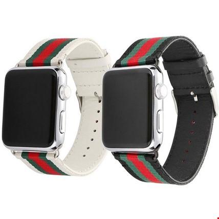 Apple Watch 2 3 4 42 ve 44mm Kordon Kayış Gucci Design