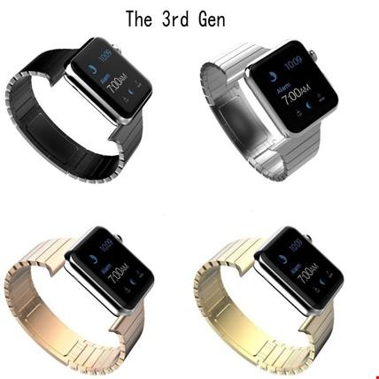 Apple Watch 2 3 4 42 ve 44mm TME Kordon Metal Link Bracelet