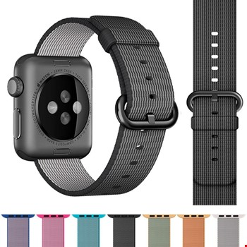 Apple Watch 2 3 4 42 ve 44mm TME Kordon Woven Nylon