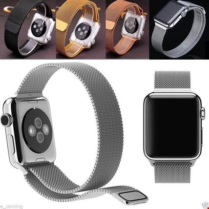 Apple Watch 2 3 4 5 6 İçin 42 44mm Metal Hasır TME Kordon