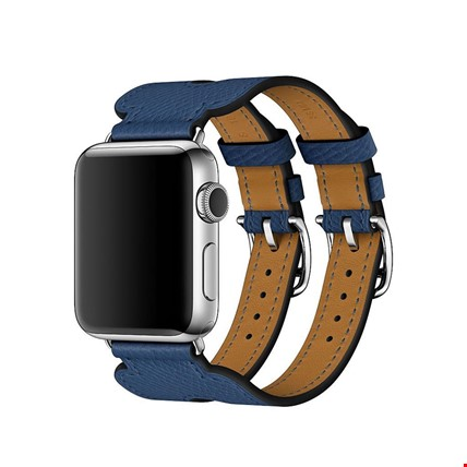 Apple Watch Watch 2 3 4 5 42mm Kordon Kayış Hermes Model Deri Renk: Lacivert