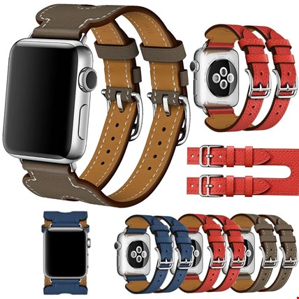 Apple Watch Watch 2 3 4 5 42mm Kordon Kayış Hermes Model Deri