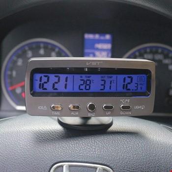 Araba Araç Oto Çok Fonksiyonlu Termometre Saat Voltmetre Vst7045