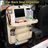 Araba Araç Koltuk Arkası Organizer Ceplik Katlanabilir Masa Cep Renk: Kahverengi Açık