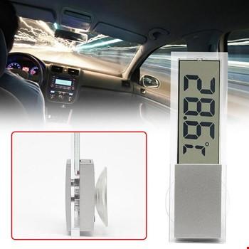 Araba Araç Camlar İçin Vantuzlu Dijital Termometre Sıcaklık Ölçer
