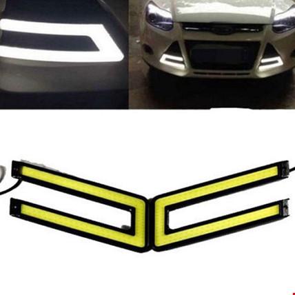 Araba U Tipi Gündüz Led Sis Farı DRL Su Geçirmez Model Beyaz Işık