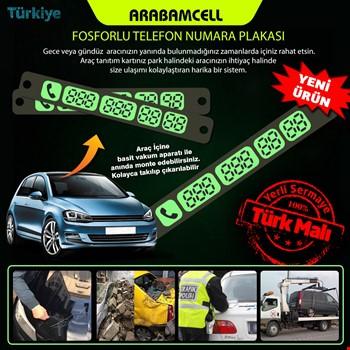 ArabamCell Araç İçi Vantuzlu Fosforlu Numaratör Park Telefon No