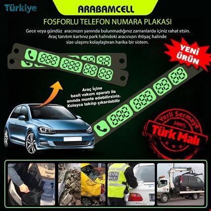 ArabamCell Araç İçi Vantuzlu Fosforlu Numaratör Park Telefon No Model Seçiniz: Model 1