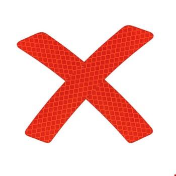 Araç Araba Oto Çamurluk Reflektörü Kırmızı Sticker Yapıştıma