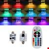 Araç İçi Aydınlatma Led Rgb 16 Renk Kumandalı  Ampül Renkli 41mm