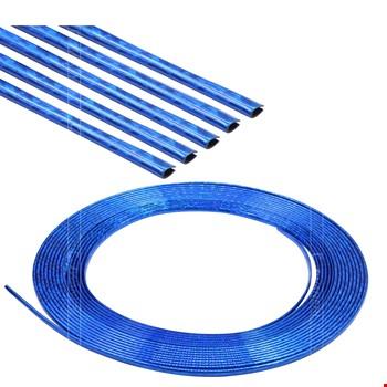 Araç İçi Dışı Geçmeli Koruyucu U Tipi Nikelaj Çıta Mavi 5mt
