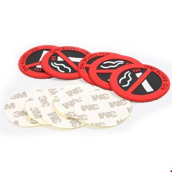 No Smoking Sigara İçilmez Silikon Yapıştırma Sticker 5 Li Paket