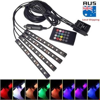 Araç İçi Müziğe Duyarlı RGB 8 Renk Led Aydınlatması 9 Led Uzun