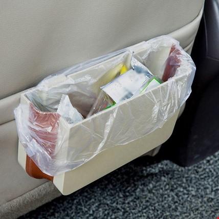 Araç İçin Koltuk Yanı Arkası Katlanabilir Su Geçirmez Çöp Kutusu