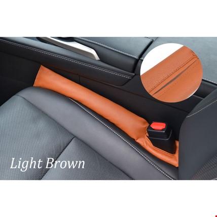 Araç Oto Koltuk Arası Boşluk Kapatıcı Düşme Engelleyici 2 Adet Renk: Kahverengi Açık