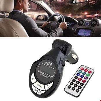 Araç İçin Kumandalı Mp3 Çalar Fm Transmitter Aux Usb Sd