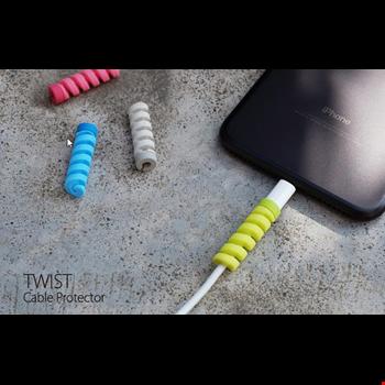 Şarj Kablosu Koruyucu Silikon Spiral Kablo Koruyucu 8li Paket