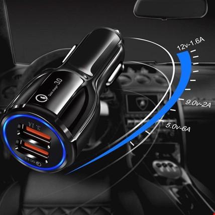 Samsung iPhone Huawei Xioami Hızlı Araç Şarj Cihazı 2 USB 6 Amper