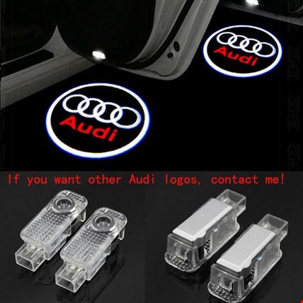 Audi A4 2009-2014 Kapı Altı Led Logo Aydınlatma Ghost Shadow