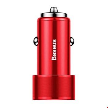 Baseus Screw 3.4A 36W Çift USB Girişli Hızlı Araç Şarj Cihazı