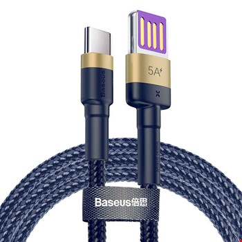 Baseus 1 Mt Huawei Samsung Xiaomi 5A Type-C Şarj Data Kablosu