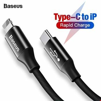 Baseus Yiven 2 Mt Type-C to iPhone iPad Lightning Şarj Data Kablo