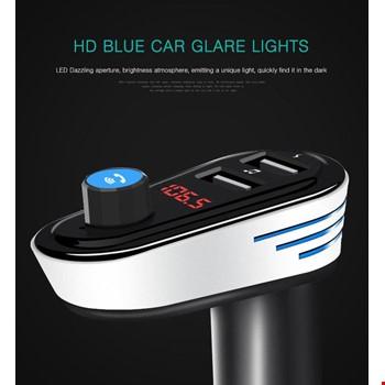Bluetooth Araç Kiti Ap-Q2 Fm Transmitter Usb Bt 4.2 3.1 A