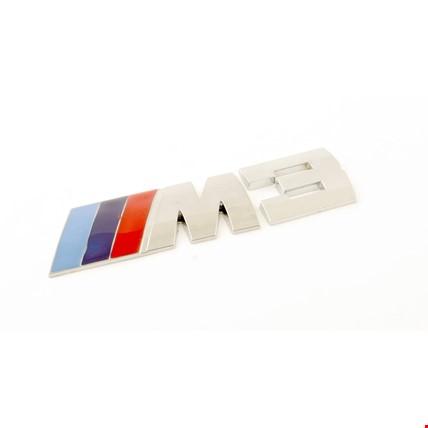 Bmw M3 Amblem Metal Logo Logosu Metal 3D Krom