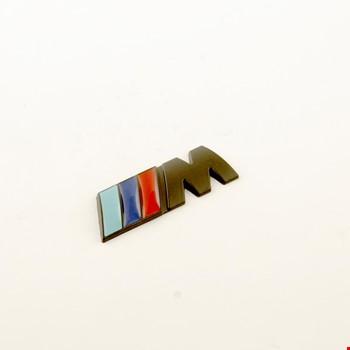 Bmw M Amblem Metal Logo Siyah Logosu Metal 3D 20MM X 55 MM