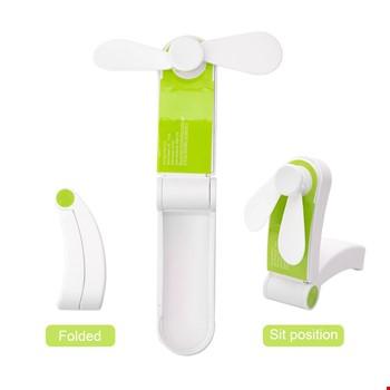 Mini Ergonomik Taşınabilir Şarjlı 2 Kademeli Cep El Fanı