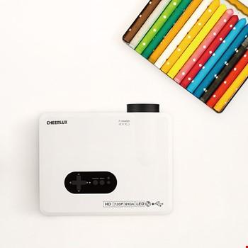 Cheerlux CL720 3000Lm Led Projeksiyon Cihazı HDMI VGA USB
