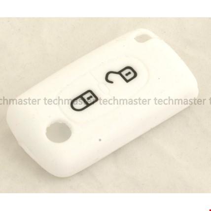 Citroen C2 C3 C4 Berlingo Picasso 2 Tuş Silikon Anahtar Kılıfı Renk: Beyaz