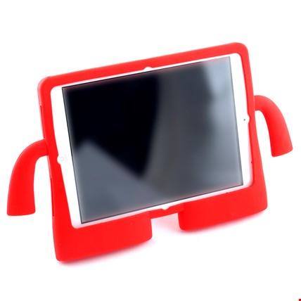 iPad Air 2 Kılıf Çocuklar İçin Silikon Kapak Standlı Renk: Kırmızı
