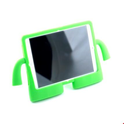 iPad Air 2 Kılıf Çocuklar İçin Silikon Kapak Standlı Renk: Yeşil