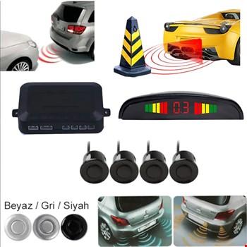 Türkçe Ses İkazlı Dijital Ekranlı Araç Park Sensörü 4 Sensörlü