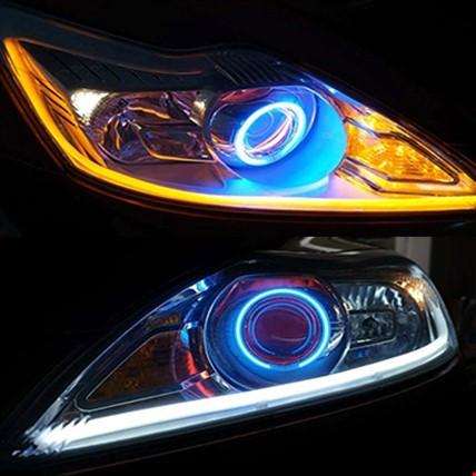 Far İçi Altı Silikon Led Neon Beyaz Led Sarı Sinyallı 45 Cm