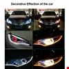 Far İçi Üstü Audi Tip Kayar Sinyalli Gündüz DRL Led Far Kaşı 45cm