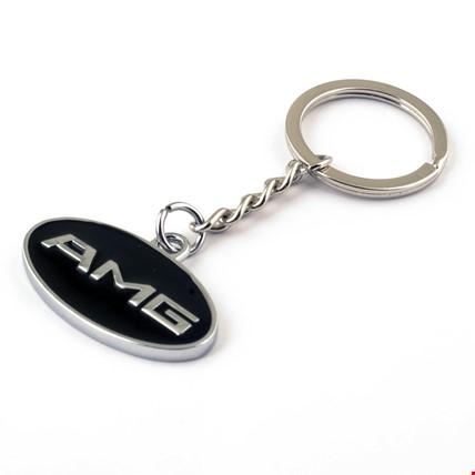 Mercedes Amg Logo Amblemli Krom Araba Oto Anahtarlık