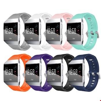 Fitbit Ionic Akıllı Bileklik Renkli Silikon TME Kordon Kayış