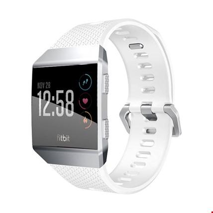 Fitbit Ionic Akıllı Bileklik Renkli Silikon TME Kordon Kayış Renk: Beyaz