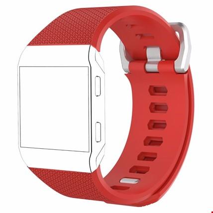 Fitbit Ionic Akıllı Bileklik Renkli Silikon TME Kordon Kayış Renk: Kırmızı