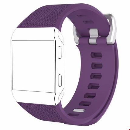 Fitbit Ionic Akıllı Bileklik Renkli Silikon TME Kordon Kayış Renk: Mor