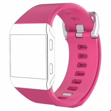 Fitbit Ionic Akıllı Bileklik Renkli Silikon TME Kordon Kayış Renk: Pembe