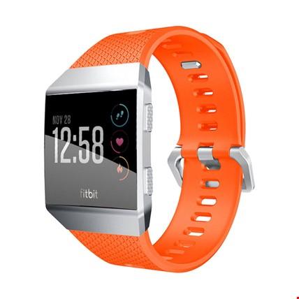 Fitbit Ionic Akıllı Bileklik Renkli Silikon TME Kordon Kayış Renk: Turuncu
