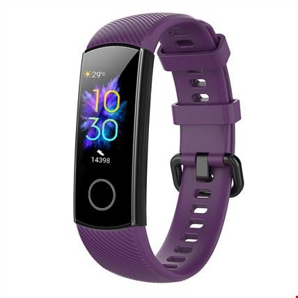 Huawei Honor Band 4 5 Silikon TME Kordon Kayış Renk: Mor