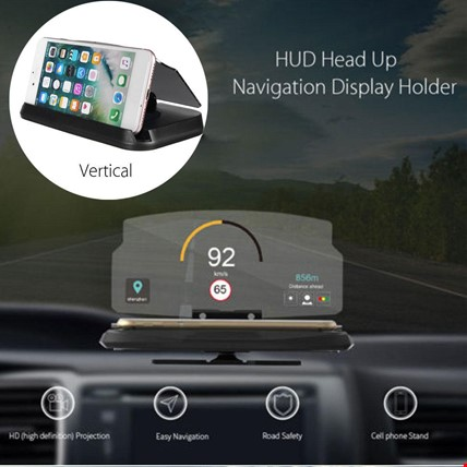Hud Telefon Navigasyon Ön Cam Yansıtma Head Up Display