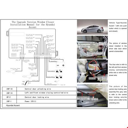 Hyundai Accent Era 2006-2012 Cam Kaldırma Modülü