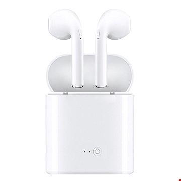 i7s TWS Kablosuz Bluetooth Çiftli iPhone Android Uyumlu Kulaklık Renk: Beyaz